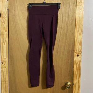 Purple fleece lined leggings